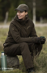 woman wearing Deerhunter Lady Mary Jacket waterproof shooting wear