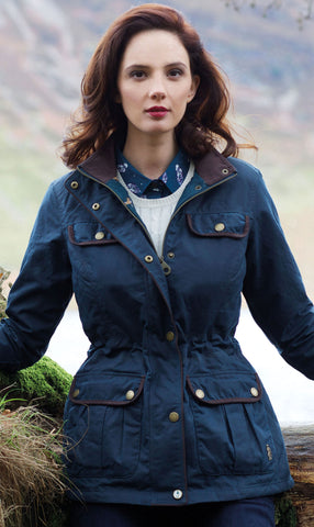 Jack Murphy Deirdre Waxed Cotton Coat in vintage teal