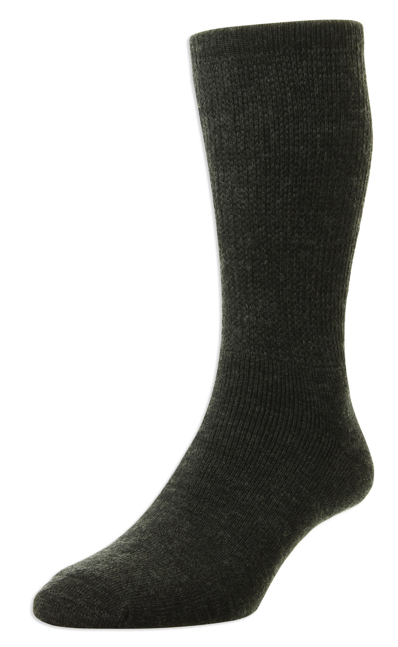 Charcoal HJ Hall Diabetic Socks | Wool