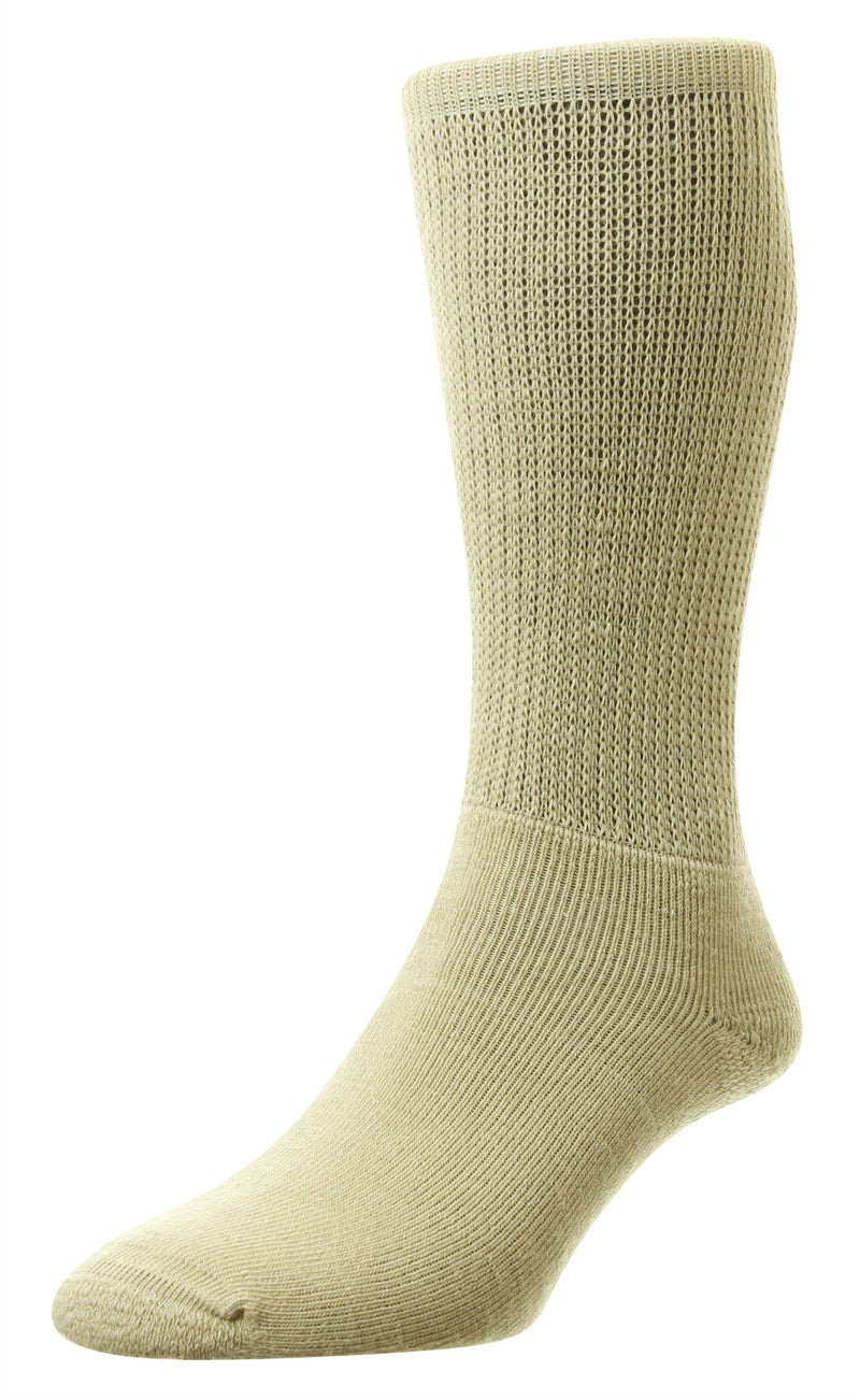 Beige HJ Hall Diabetic Socks | Wool