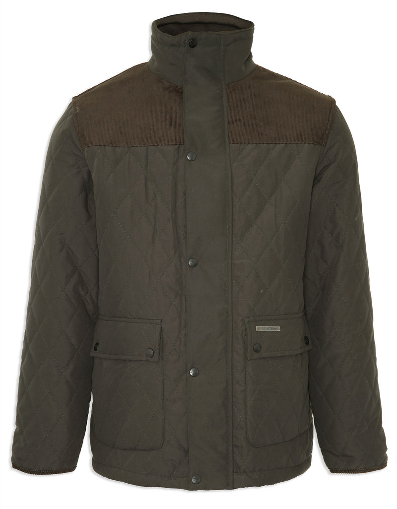 Olive Champion Lewis Diamond Quilted Jacket