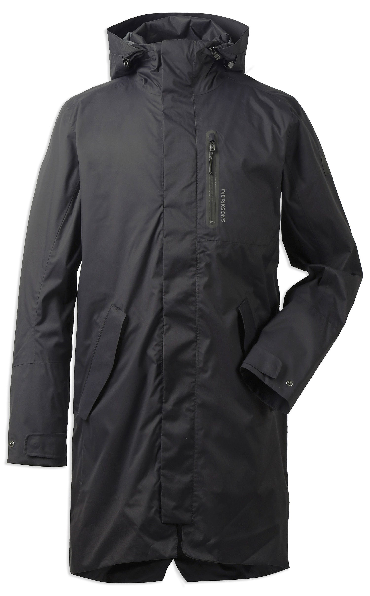Black Men's Arnold Waterproof Parka Coat by Didriksons
