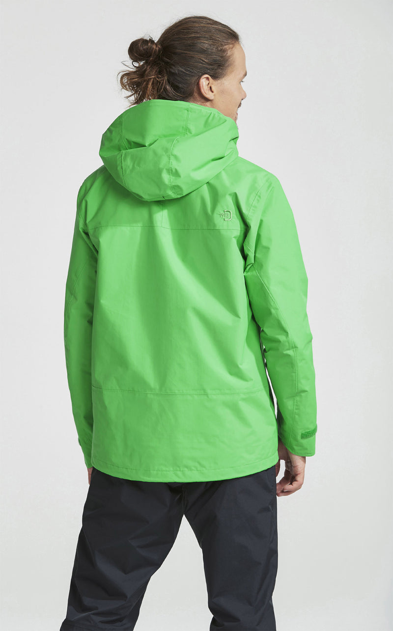 didrikson mens waterproof jacket lime green hooded
