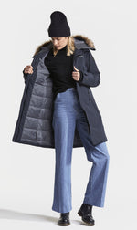 Blue coat with warm lining