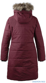 Back View dark red Didriksons parka coat