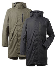 Didriksons Arnold Waterproof Parka | Black & Crocodile Green