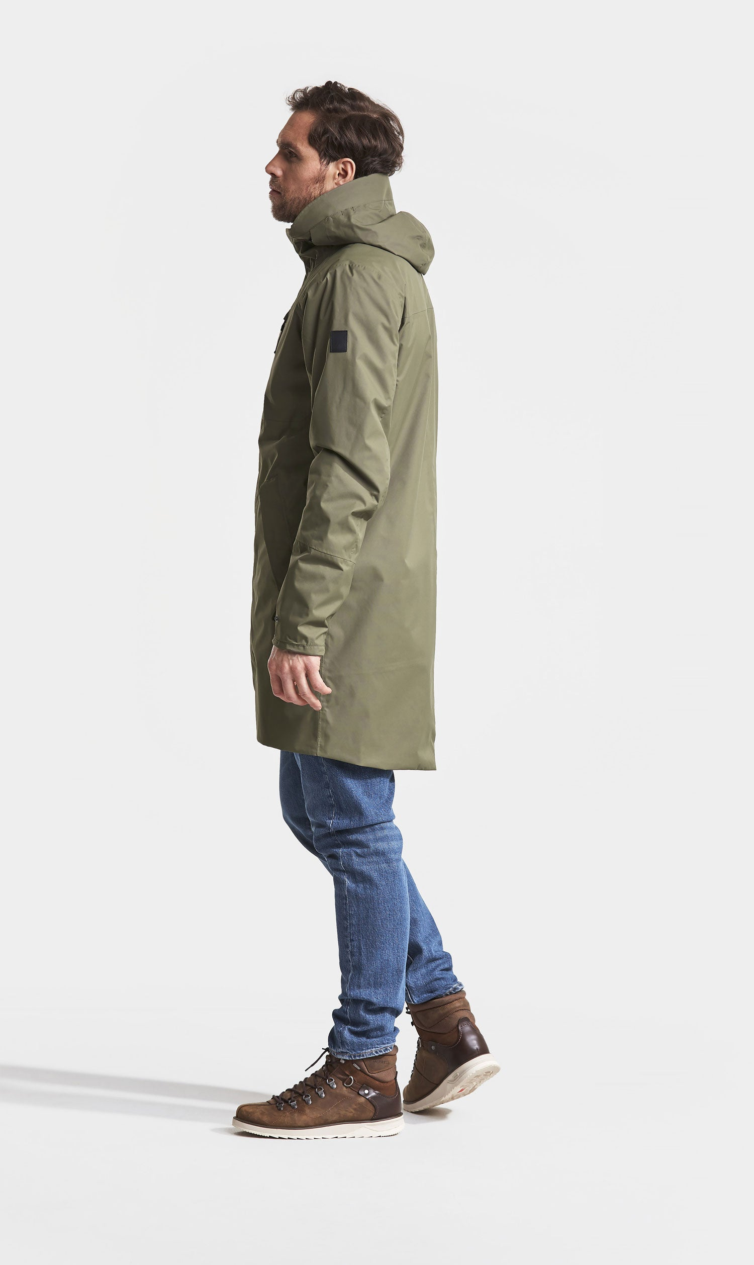 side view Didriksons Arnold Waterproof Parka