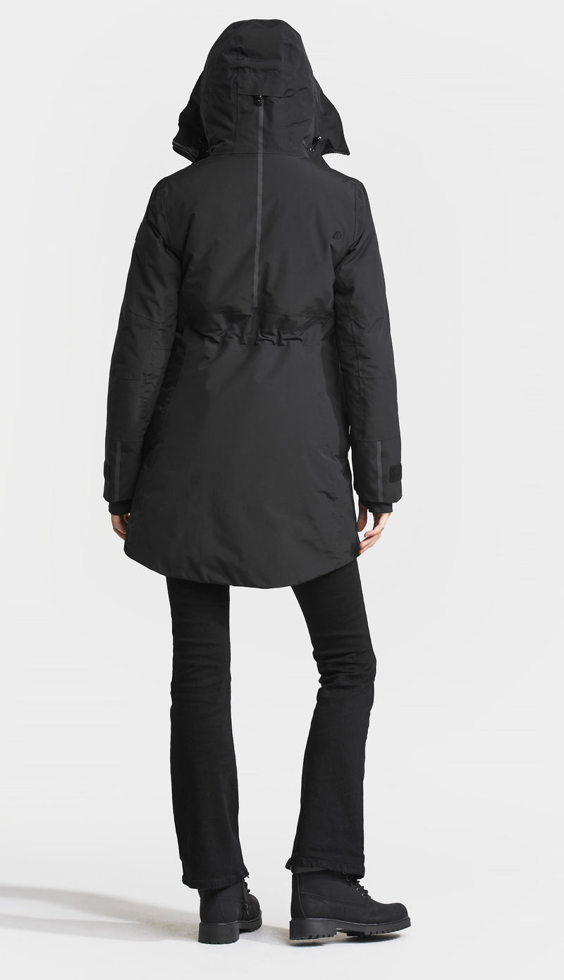 back view Didriksons Ladies Silje Waterproof Winter Coat