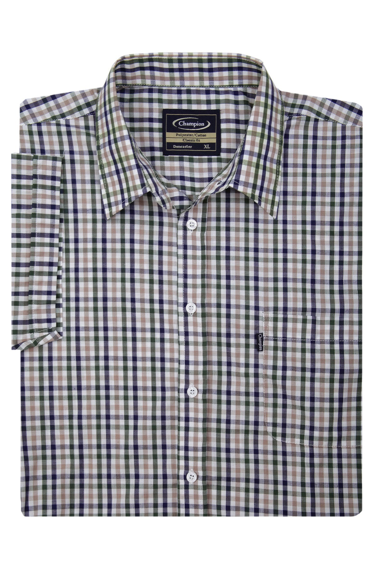 Champion Doncaster Short Sleeved Shirt showing sleeves
