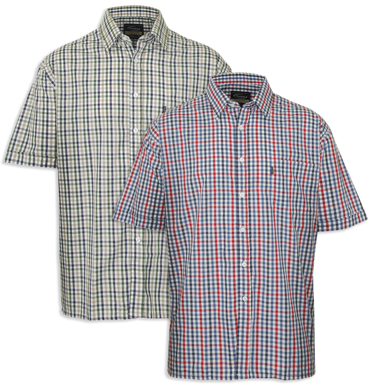 Champion Short Sleeves 3XL 4XL and Above! - Champion Doncaster Country Check Shirt Large
