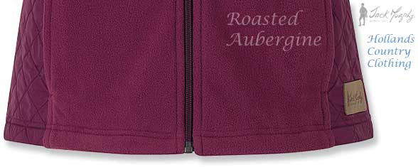 bottomhem BETTY Roasted Aubergine Ladies' Fleece GILET JACK MURPHY BOD 103