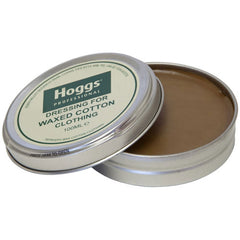 Hoggs of Fife Professional Waxed Cotton Dressing - Neutral 100 mlopen showing wax