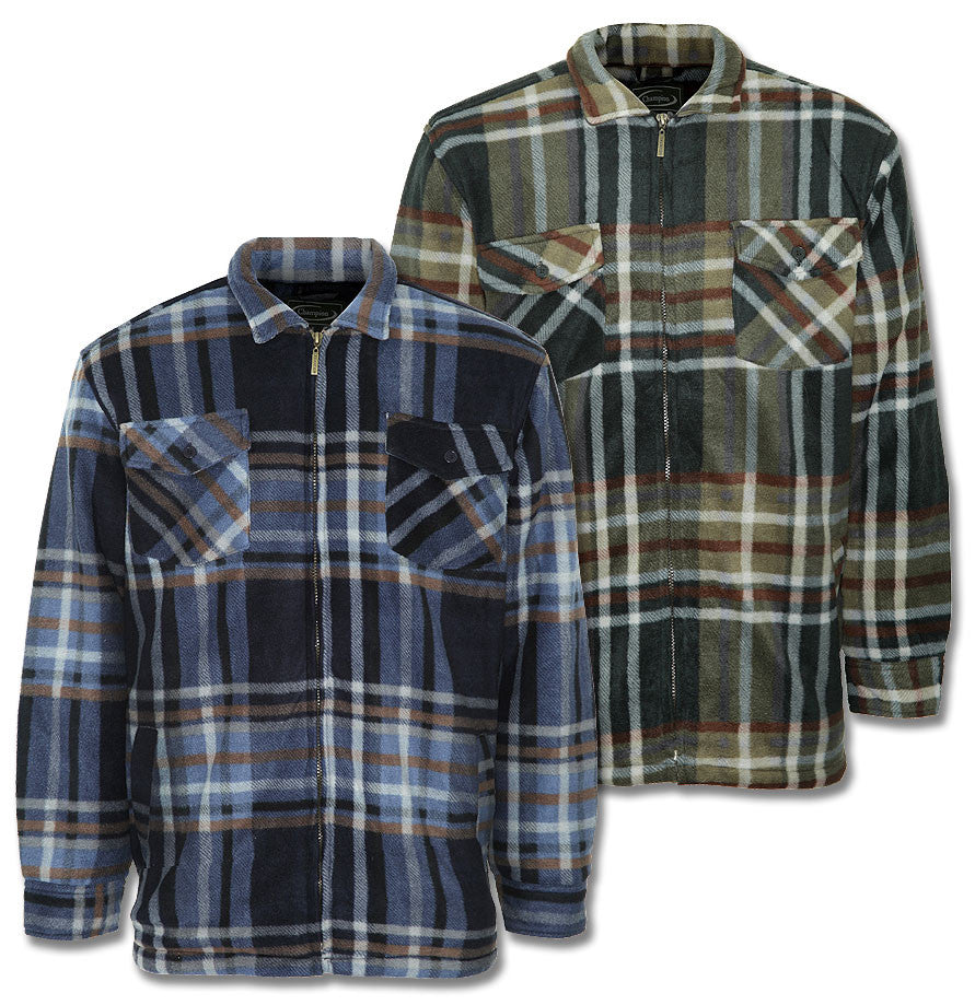 Champion Fleece in tartan with warm fleece ling