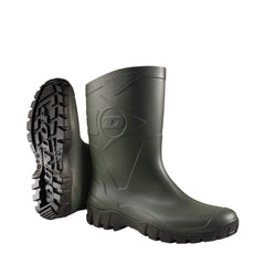 Green pair Dunlop Dee Low Leg Wellington Boots W116EX Green & Black