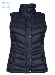 navy Astrid Ladies Quilt Waistcoat by Baleno