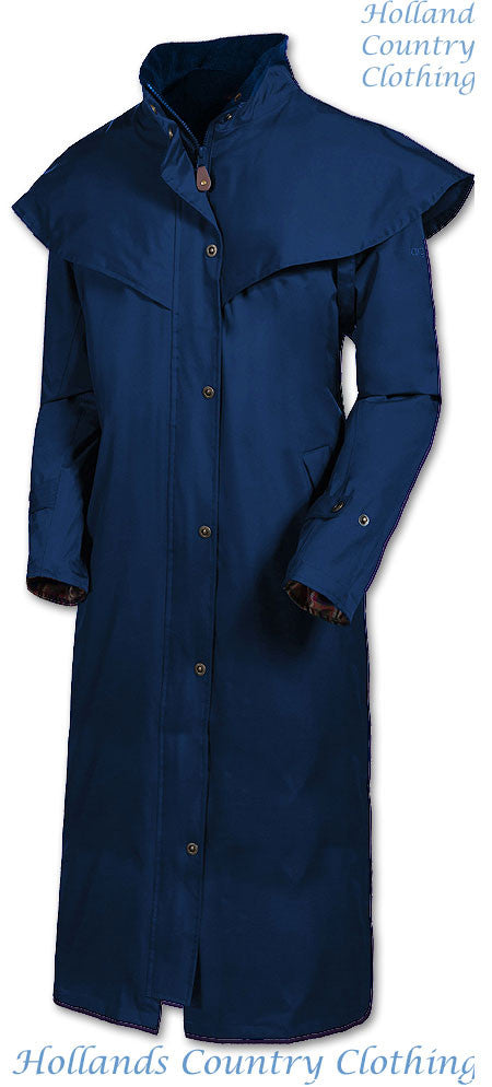 eclipse blue Target Dry Outback 2 Full Length Long Waterproof Coat.