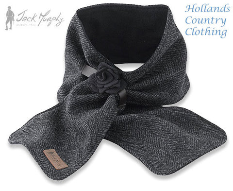 Jack Murphy ECLIPSE Tweed Scarf with Rose Band