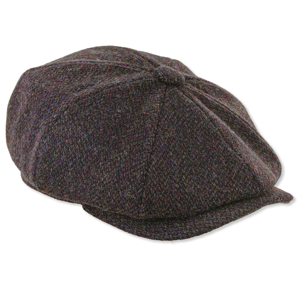 Heather Scott Eight Panel Baggy Button Tweed Cap – Hollands Country ... 62ee623587c