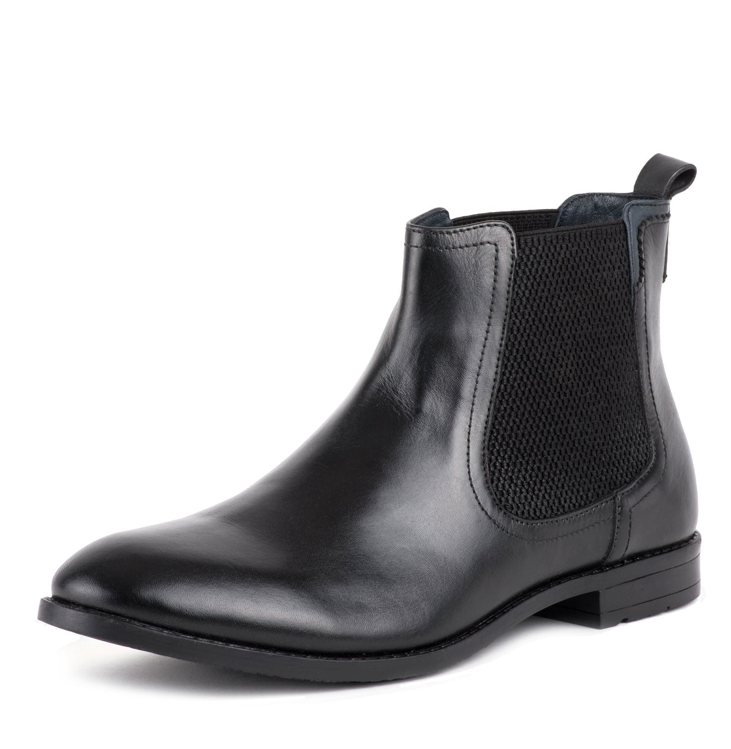 Black Leather Dealer Boot by Goodwin Smith