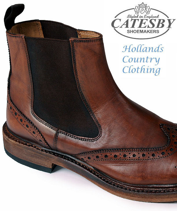 1d496ad668c Catesby All Leather Brogue Dealer Boot – Hollands Country Clothing