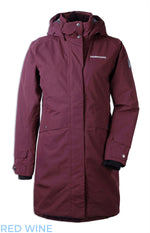 wine red Didriksons Eline Padded Waterproof Parka