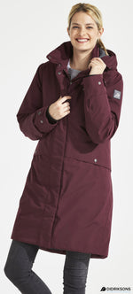 wine red eline parka coat