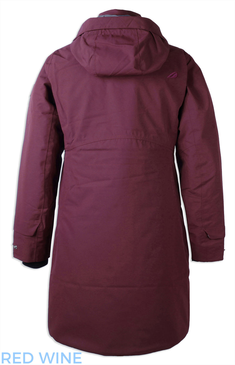 rear view Didriksons Eline Padded Waterproof Parka