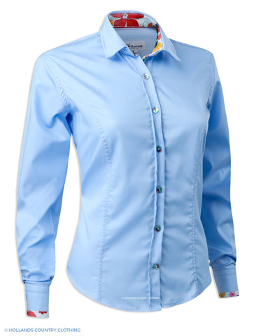 Hartwell Emma Cotton Shirt | Beautiful Blue