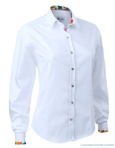 Hartwell Emma Cotton Shirt | Bright White