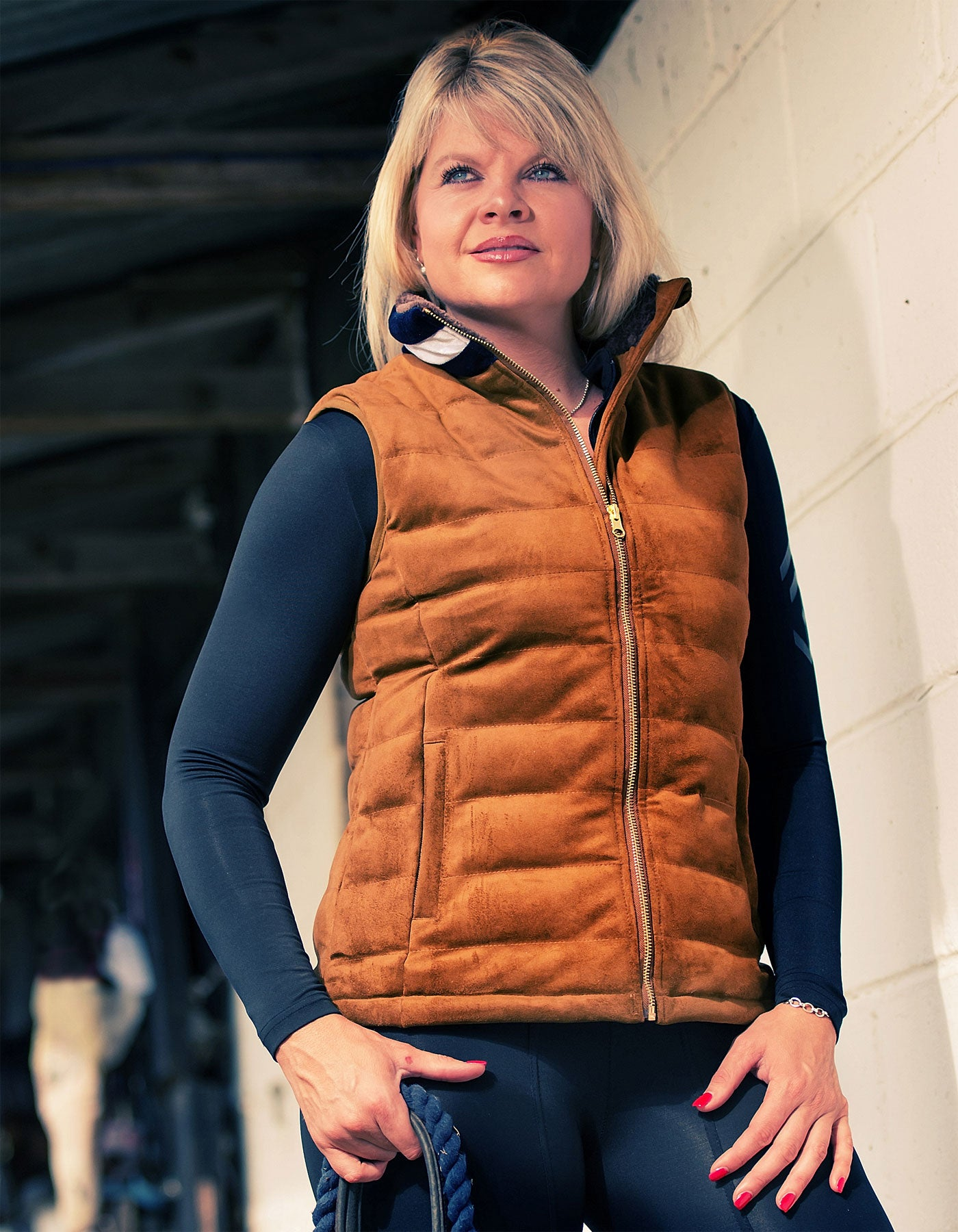 suede equestrian gilet from sporting hares