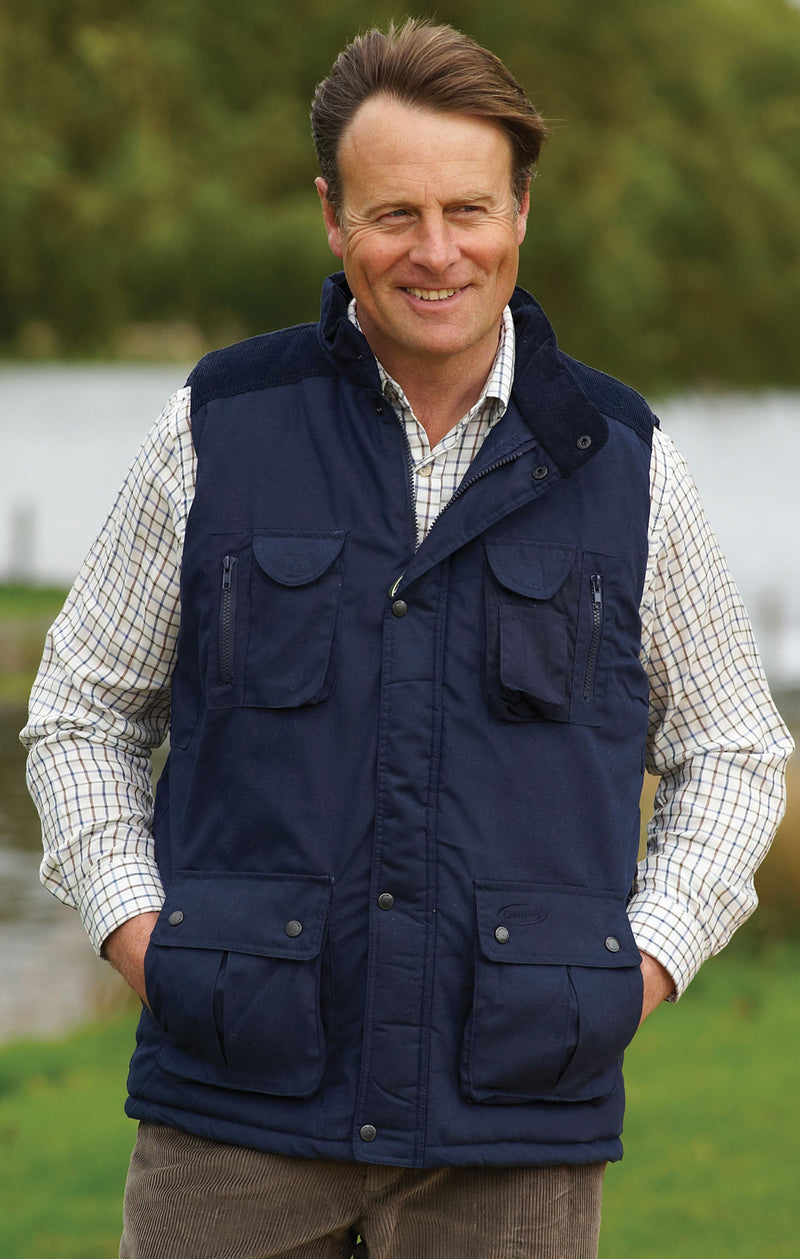 man wearing Champion Exmoor Multi Pocket Padded Body Warmer