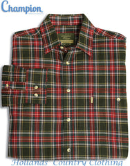 with sleeves folded Champion Farleigh 100% Tartan Cotton Work Shirt