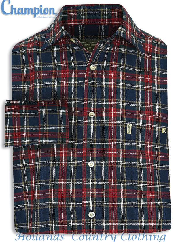 sale Champion Farleigh 100% Tartan Cotton Work Shirt