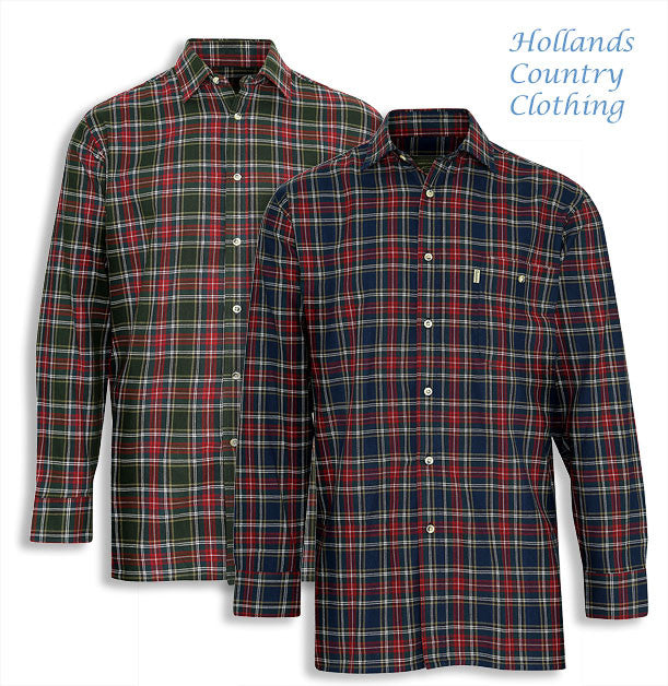 two Champion Farleigh 100% Tartan Cotton Work Shirts