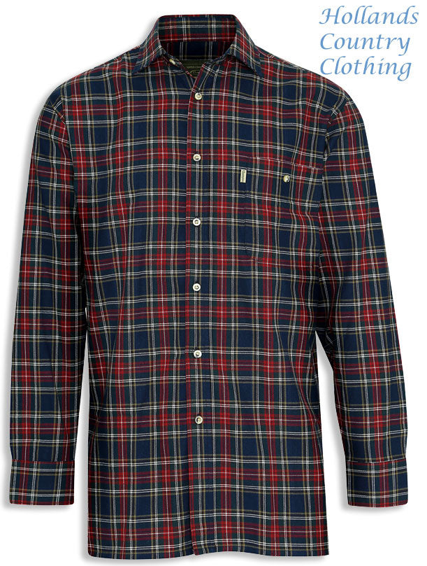 in blue Champion Farleigh 100% Tartan Cotton Work Shirt