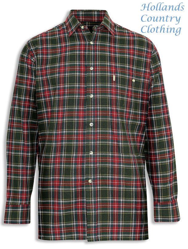 Champion Farleigh 100% Tartan Cotton Work Shirt ingreen check