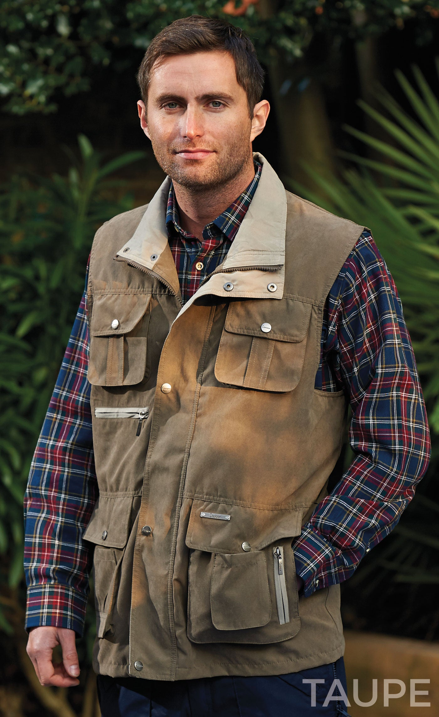 Taupe Champion Farnham Lightweight Multi Pocket Bodywarmer