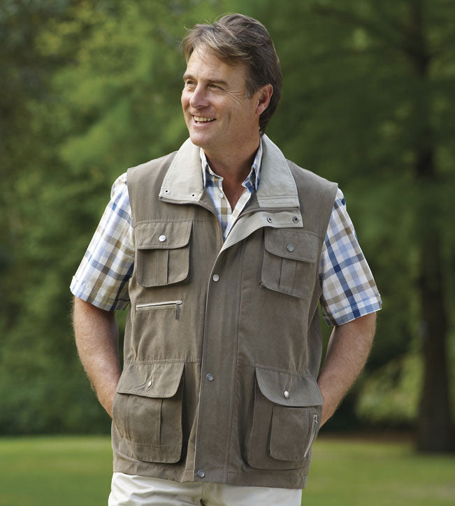 Taupe waistcoat Champion Farnham Lightweight Multi Pocket Bodywarmer