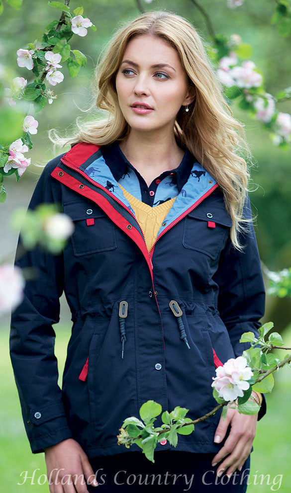 lady wearing Jack Murphy Farrah Waterproof Coat