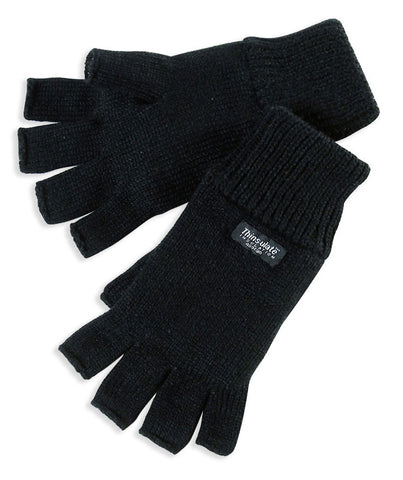 Fingerless Thinsulate Knitted Gloves black
