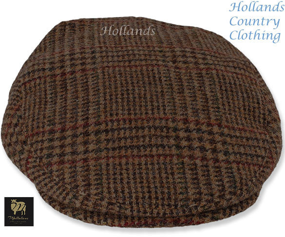 a35421628 Chapman Brown Tweed with Check Flat Cap – Hollands Country Clothing