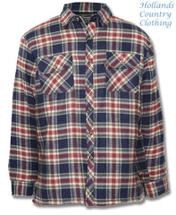 Blue quilted champion lumberjack shirt