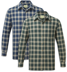 Fortress Worcester Work Shirt green blue tartan check pattern