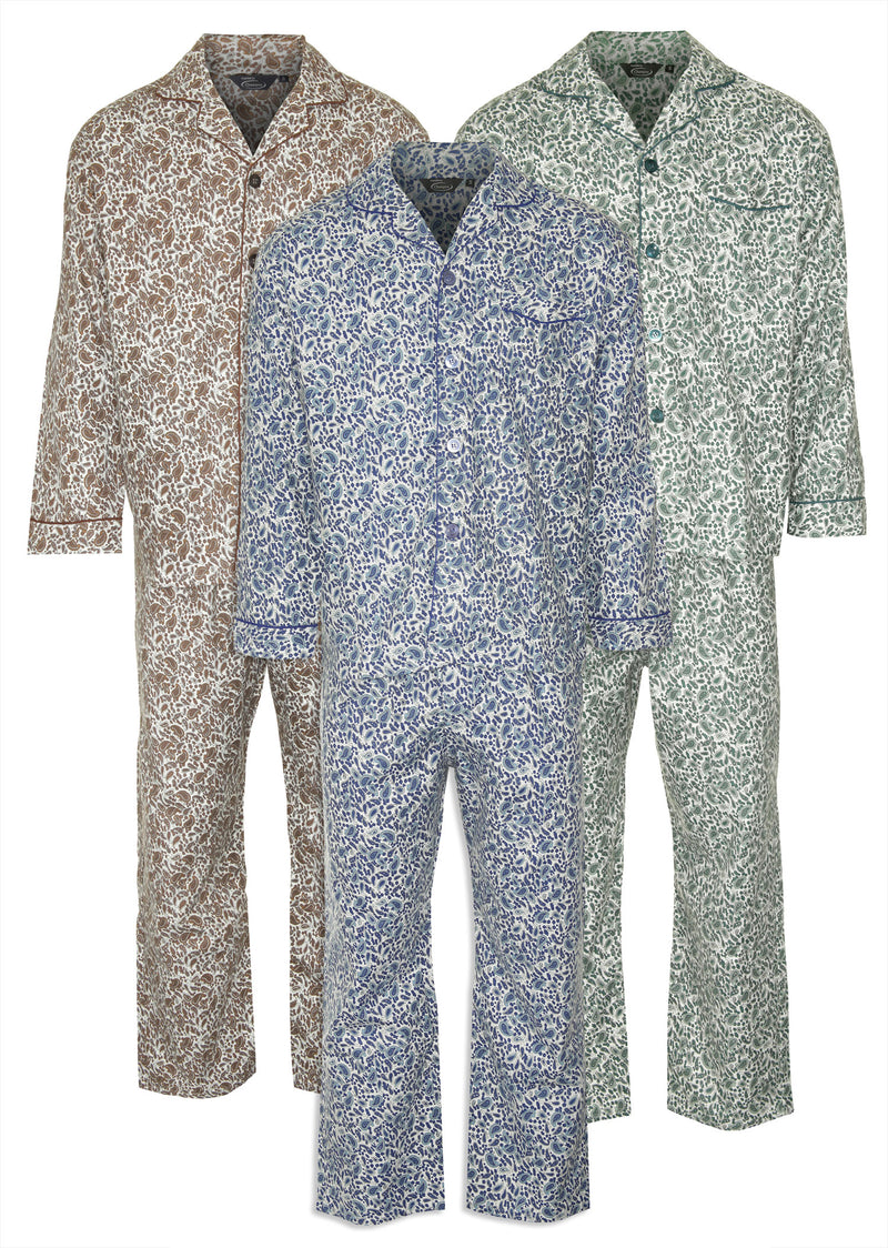 Champion Paisley Pyjamas 100% Cotton three colours