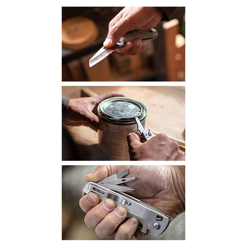 Freestyle knife and multitool uses - single hand use blade