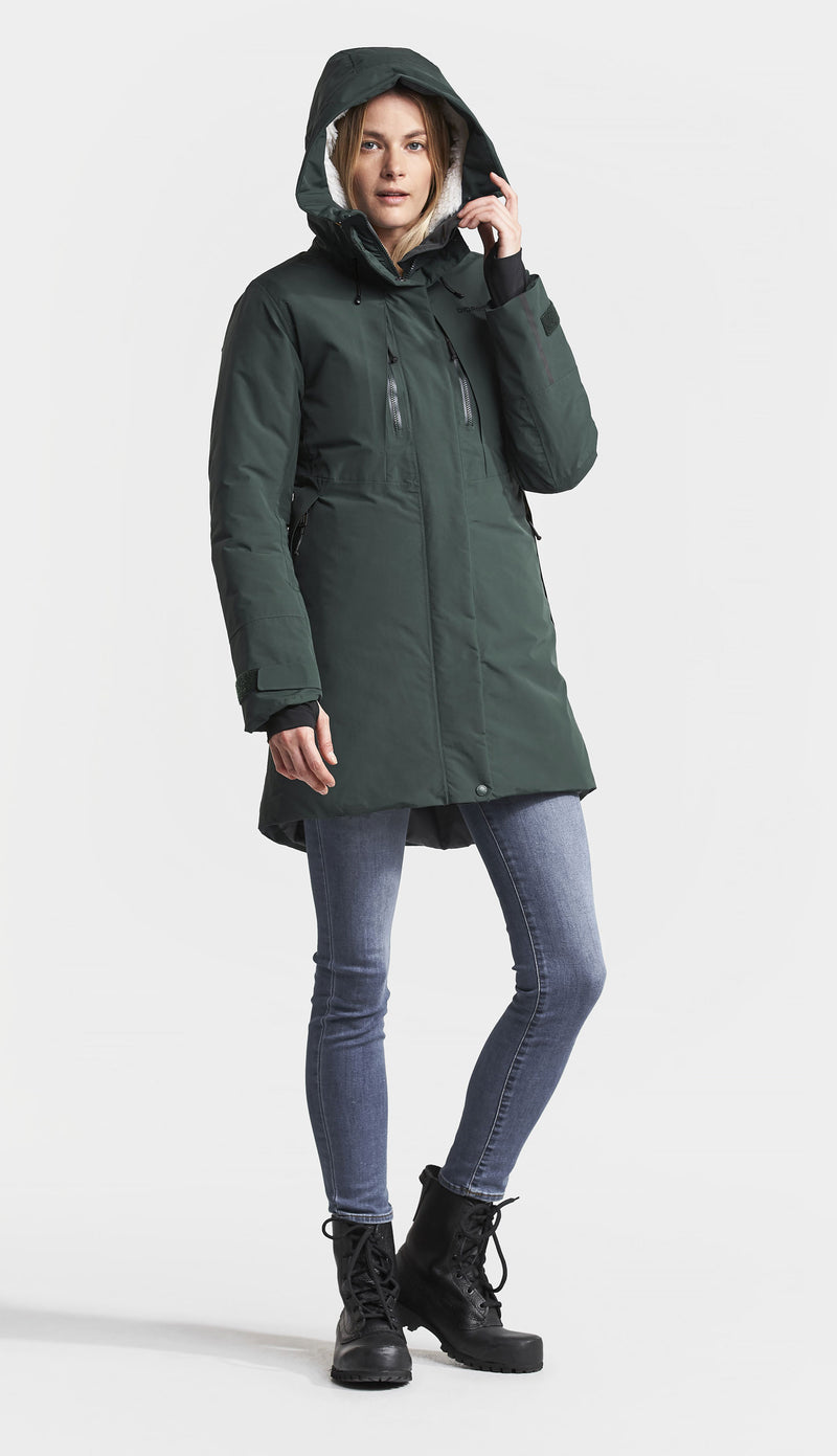 Hood up Didriksons Silje Padded Waterproof Parka