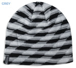Grey Blac Gelert Men's Pattern Beanie Hat