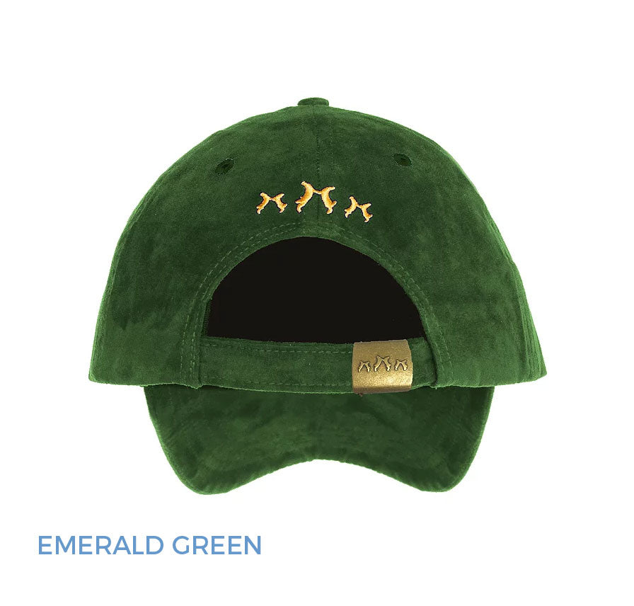 Rear View Sporting Hares Collection Hat Emerald Green