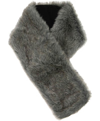 scarf reversed showing faux fur lining