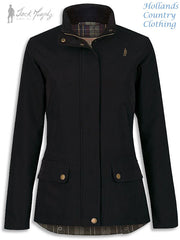 Jack Murphy Gemma Ladies Rain Jacket in black